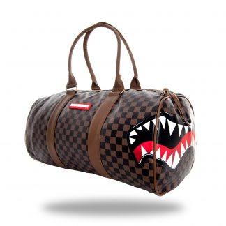 Sharks in Paris Brown Duffle Bag